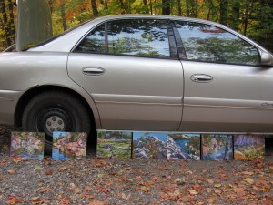 paintings by car